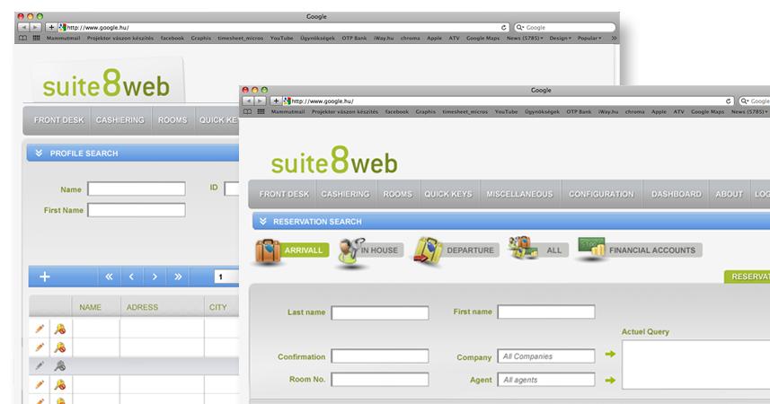 Suite 8 web - Fidelio WebSuite - webdesign �s webf | Suite 8 web - Fidelio WebSuite - webdesign �s webfel�let k�dol�sa