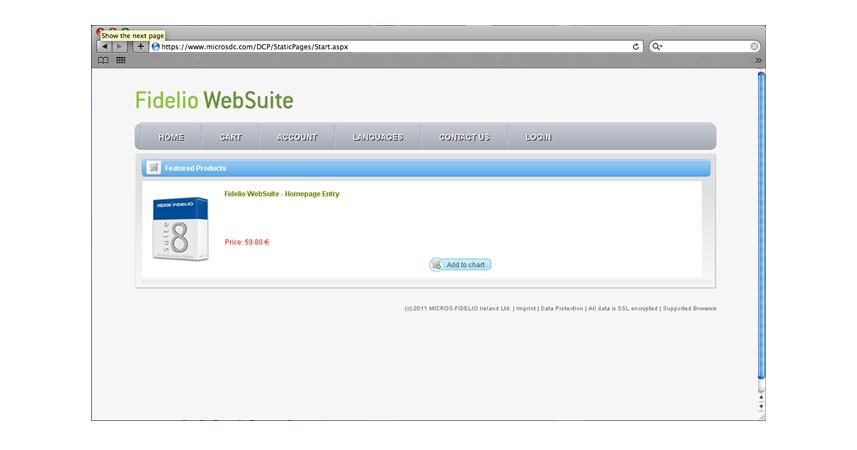 Fidelio WebSuite Webshop design �s fel�let k�dol�s | Fidelio WebSuite Webshop design �s fel�let k�dol�sa
