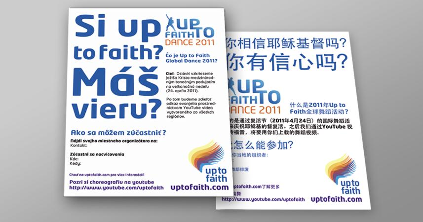 Up to Faith plak�t | Plak�tok