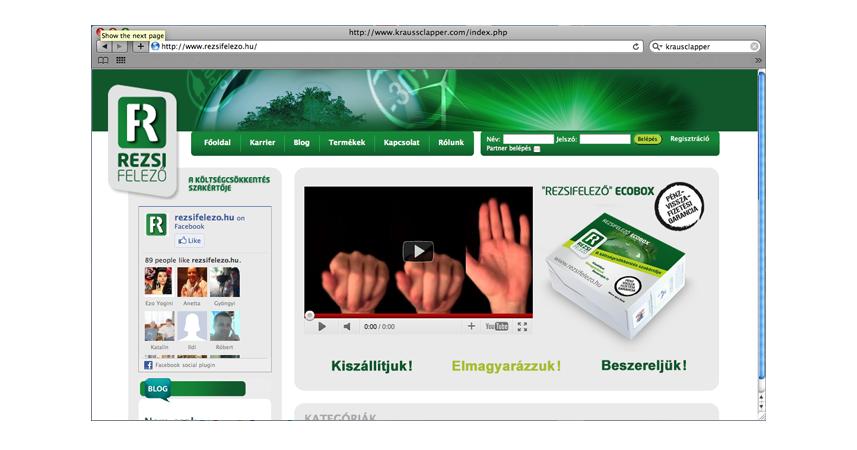 Rezsifelez� honlap design �s kivitelez�s, csom | Rezsifelez� honlap design �s kivitelez�s, csomagol�s (doboz) tervez�s